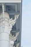 Colonna, dettaglio della colonna di Wat (tempio) in Tailandia Immagine Stock Libera da Diritti