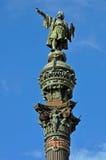Colonna di Columbus a Barcellona Fotografia Stock