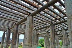 Colonna di legno Fotografia Stock