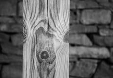Colonna di legno Immagini Stock