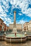 Colonna di Marco Aurelio, Roma, Italia. immagini stock