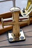 Colonna di ormeggio di una barca Fotografie Stock Libere da Diritti