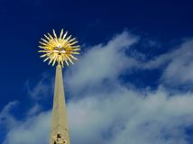Colonna di peste alla repubblica Ceca della piazza di Mikulov fotografia stock libera da diritti
