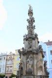 Colonna di peste in Jindrichuv Hradec fotografia stock libera da diritti