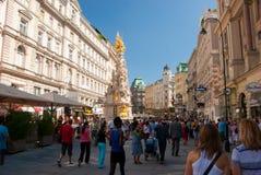Colonna di peste a Vienna Immagine Stock