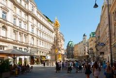 Colonna di peste a Vienna Fotografia Stock