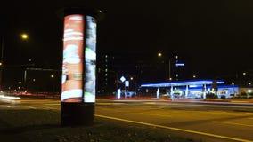 Colonna di pubblicità di filatura - lasso di tempo video d archivio