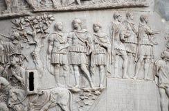 Colonna di Traiano a Roma fotografia stock