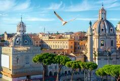 Colonna di Trajan a Roma fotografia stock