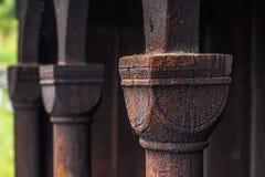 Colonna di Urnes Stave Church, Norvegia fotografia stock