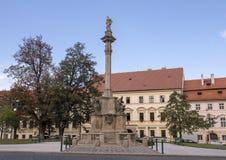 Colonna di vergine Maria, quadrato di Hradcanske, Hradcany, Praga, repubblica Ceca di peste fotografia stock libera da diritti