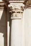 Colonna e capitale del Corinthian nel teatro romano Fotografia Stock Libera da Diritti