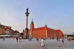 Colonna e castello reale a Varsavia, Polonia Fotografia Stock