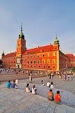 Colonna e castello reale a Varsavia, Polonia Fotografia Stock Libera da Diritti