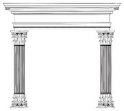 Colonna ed arco greci Immagini Stock Libere da Diritti