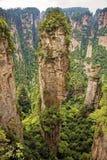 Colonna famosa della montagna di galleggiamento dell'avatar, montagne di Zhangjiajie Fotografia Stock