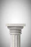 Colonna greca classica di pietra Fotografie Stock