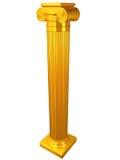 Colonna ionica dell'oro Fotografia Stock Libera da Diritti