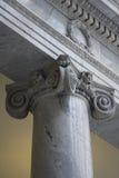 Colonna ionica greca fotografie stock