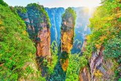 Colonna naturale dell'arenaria del quarzo la montagna di hallelujah dell'avatar fotografie stock