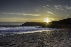 Colonna Regno Unito di Sun fotografia stock libera da diritti