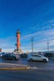 Colonna rostrale nella città di St Petersburg Fotografie Stock Libere da Diritti