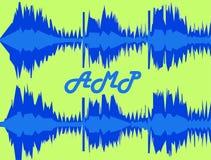 Colonna sonora di amp fotografie stock libere da diritti