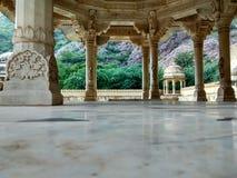 Colonna tradizionale di Chatriya di chatriya di ki dell'alligatore vecchia, vecchia architettura Immagine Stock Libera da Diritti