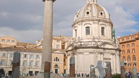 Colonna Traiana, Forum Traiano, Roma, Italy. Colonna Traiana, Foro Traiano, Roma, Italy. Video stock video footage