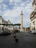 Colonna Traiana in Rome Royalty Free Stock Photo
