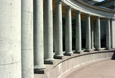 Colonnade. Long colonnade of the old palace in Moscow stock photo