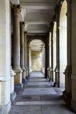 Colonnade. With thermal water at Karlovy Vary, Czech Republic royalty free stock photography
