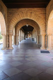 Colonnade. Spanish style archway and tiled floor Stock Image