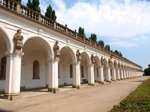 Colonnade. A part of the Flower garden in Kromeriz, Czech republic. Inscribed in UNESCO world heritage list royalty free stock photography