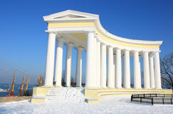 Colonnade. Point of interest colonnade in odessa stock photos