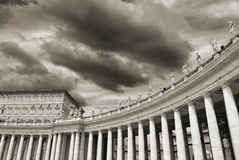 Colonnade. Colonnade of St. Peter's Basilica in Vatican, Rome, Italy stock photography