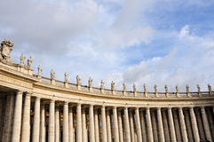Colonnade. Famous colonnade of St. Peter's Basilica in Vatican, Rome, Italy Stock Photos