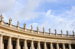 Colonnade. Famous colonnade of St. Peter's Basilica in Vatican, Rome, Italy Royalty Free Stock Photography