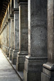 Colonnade. With perspective feeling in Braga, Portugal Stock Images