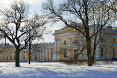 Colonnade of Alexander palace in Pushkin Stock Photography