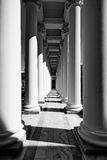 Colonnade of the Alexander Palace. Royalty Free Stock Photo