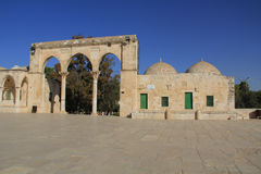 Colonnade Along the Square on the Temple Mount Stock Photos