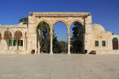 Colonnade Along the Square on the Temple Mount Royalty Free Stock Image