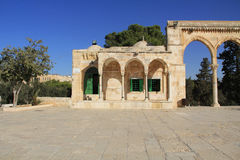 Colonnade Along the Square on the Temple Mount Stock Photo