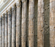 Colonnade of an ancient building Stock Photos