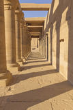 A colonnade of ancient columns (Egypt) Stock Photos