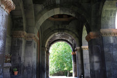 Colonnade of armenian church Royalty Free Stock Photography