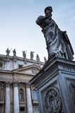 Colonnade around the Piazza St Pietro by St Peter`s Basilica in the Vatican City in Rome Italy Royalty Free Stock Photography