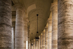 Colonnade around St Peters Square Stock Images