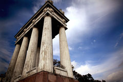 Colonnade on background of dramatic sky Royalty Free Stock Photography